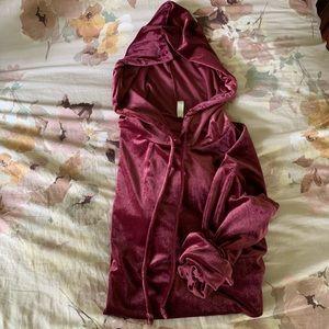 Gorgeous Velvet Tunic Hoodie